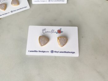 Hand painted opal clay studs
