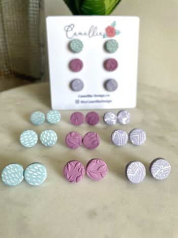 Spring Pastel Stud Earrings