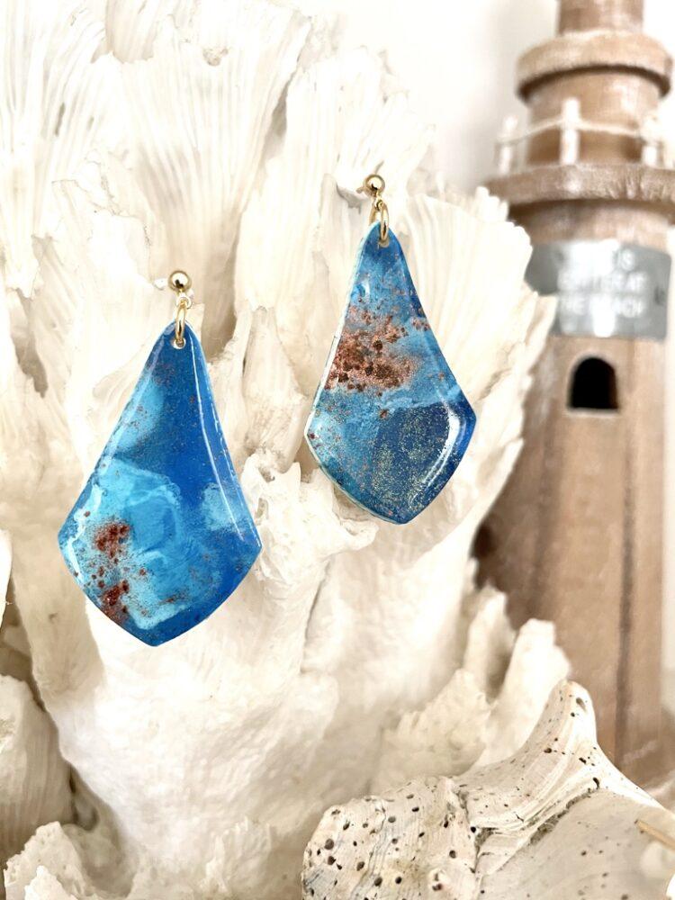 Handmade Ocean Waves Earrings