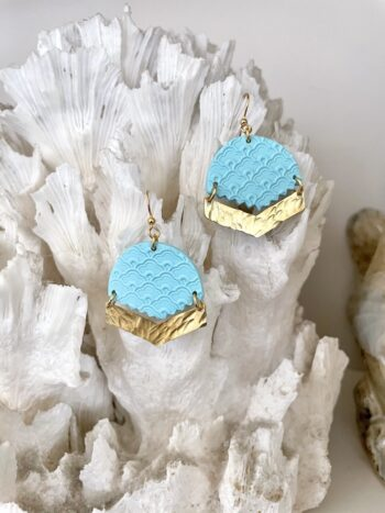 Pastel Blue Beachy Earrings