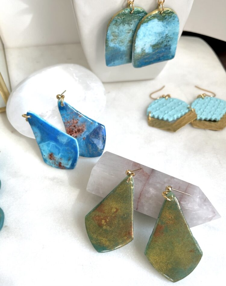 Beachy Handmade Turquoise Earrings
