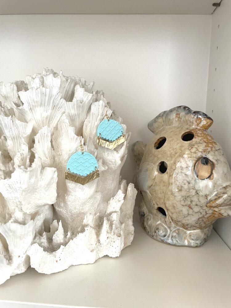 Pastel Blue Beachy Earrings