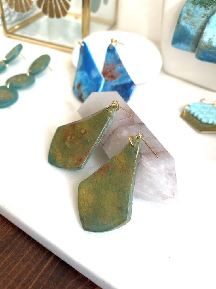 Beachy Handmade Turquoise Earrings
