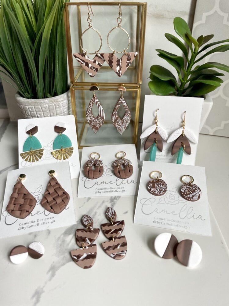 Woodland Aztec Rustic Handmade Earrings