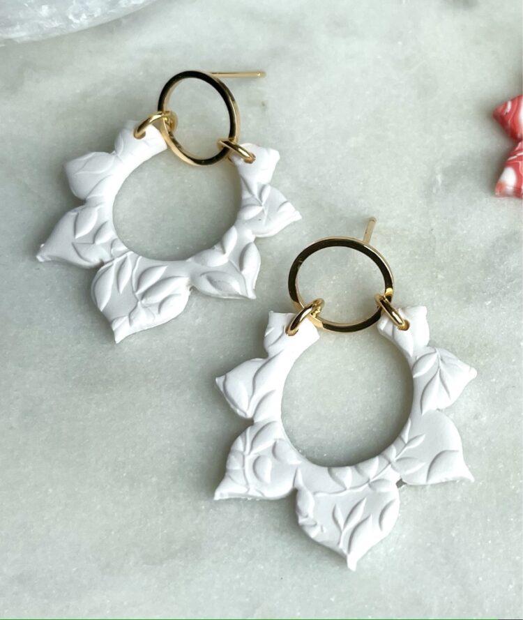 Summer Sunburst Neutral Earrings