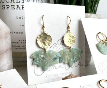 Waves Seashell Clay Earrings