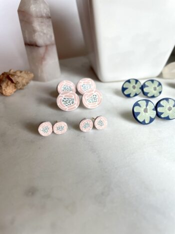 Fall Floral Stud Earrings